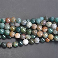 Wholesale India Agate Beads Natural Gemstone Stone Round Loose Spacer 6mm Hot
