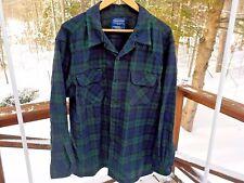 Pendleton Men XL Virgin Wool Black Watch Tartan Board Shirt Jac Button Up Shirt