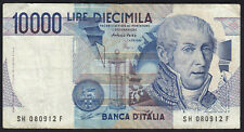 1984 10000 Lire Italy Old Vintage Paper Money Banknote Currency Bill Note VF