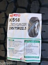 4 COMMERCIAL TRUCK TIRE 295/75R22.5 KORYO  K518 PREMIUM DRIVE  14PLY
