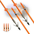 3/6/12x Bowfishing Arrows Fiberglass Broadheads Archery Bow Fishing Hunting 8mm