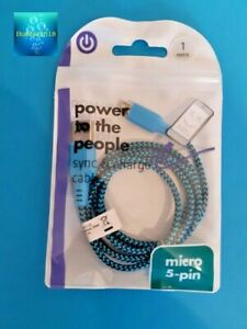 iPhone / Android MICRO 5-pin Charging Cable 2- in-1 Sync Charge USB Data 1 meter