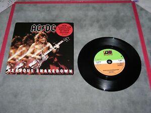 """AC/DC """"Nervous shakedown"""" 45 tours UK."""