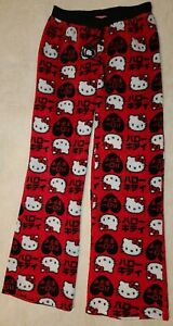 Hello Kitty girls Soft Fleece Pajama PJ Pants Size Small