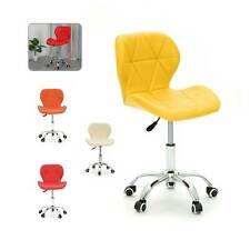 Adjustable Cushioned Computer Desk Chrome Legs Lift Swivel Small Office Chair