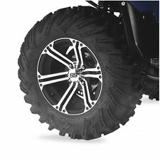 ITP TerraCross/SS212 Machined FRONT (1) Tire Combo 26x8R-14 4/110 Mud and Snow