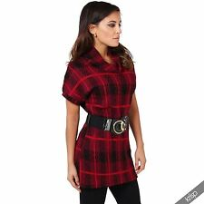 Checked Mini Jumper Casual Dresses for Women