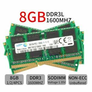 32GB 16GB 8GB PC3L-12800S DDR3L 1600MHz 204Pin SODIMM Laptop RAM For Samsung LOT