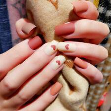 24x/Set Love Print Fake Nails Detachable Fake Press On Nails Cute False Nails