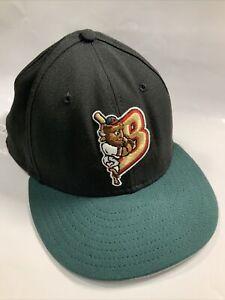 Vintage Buffalo Bisons New Era Wool Hat Cap Milb Minor Baseball USA 90s 7 1/2