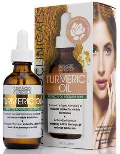 Advanced Clinicals Turmeric Oil For Problem Skin 1.8 Fl Oz (53mL)