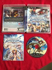 BlazBlue: Continuum Shift (Sony PlayStation 3, 2010) PS3 Complete reversible art