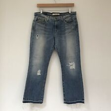 J Brand Womens Jeans, Size 28, Blue Denim Distressed Patches Rose Bowl