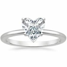 Classy 1/4 Cts F/VS1 Heart Shape Natural Diamonds Anniversary Ring In 14K Gold