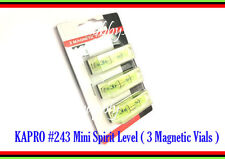 KAPRO #243 Mini Spirit 40mm size Level Magnetic Vial base Picture Hanging 1 SET