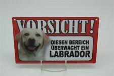 LABRADOR - Tierwarnschild - VORSICHT Warnschild 20x12 cm 29