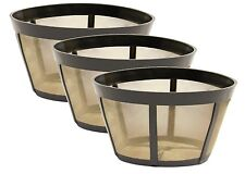 3 PK GoldTone™ Permanent Reusable Basket Coffee Filter Fits BUNN®* Coffee Makers