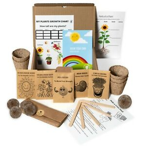 Grow Your Own Kit Kids. SEEDS FOR KIDS. Gardening for kids. Seed kits for kids.