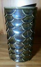 Starbucks Fish Scale Tumbler w/ Lid 10oz Metallic Bluish Color, Raised Features