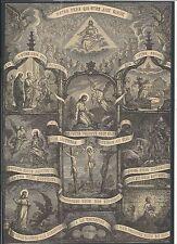 Holy card lamina antique de Jesus estampa santino image pieuse