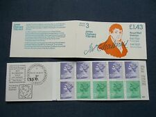 FN1A £1.43 LM POSTAL HISTORY JAMES CHALMERS GB BOOKLET UMFB28 HALF ARROW