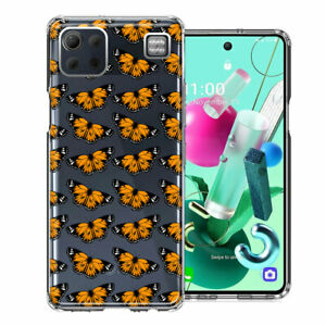 For LG K92 Monarch Butterflies Double Layer Phone Case Cover