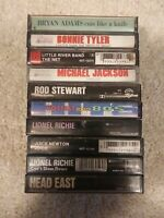 Lot Of 10 Vintage Pop Music Cassettes from late 70s and 80s. Untested sold as is