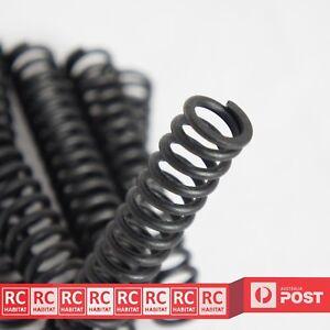 6pcs Heavy Duty Matt Black Steel Compression Spring 2.5 x 16 x 90 mm