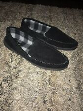 Clarks Mens Black Suede Mocassins Slippers Size 13