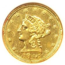 1846-C Liberty Gold Quarter Eagle $2.50 Charlotte. ANACS AU50 Detail. Ex-Jewelry