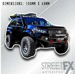 Streetfx Prado Slap Sticker for Toyota Turbo Race  4x4 Straya Offroad 4WD