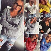 Women's Long Sleeve Knitted Sweater Jumper Knitwear Casual Cardigan Coat Outwear
