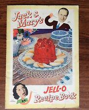 Vintage 1937 Jack Benny And Mary Livingstone's Jello-O Recipe Book
