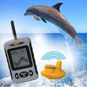 Lucky FFW718 Wireless Sonar Fishfinder 40M/120FT Fish & Depth Alarm 90 Degree