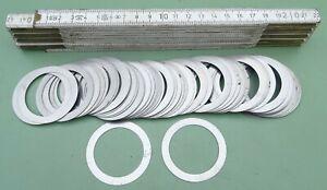 25 Passscheiben 38x50x0,5 mm Ausgleichsscheibe Distanzscheibe Stützscheibe Stahl