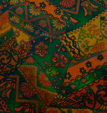 Japanese vintage kimono silk fabric Green Kiredori