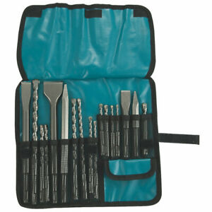 Makita SDS Plus Shank Drill Bit & Chisel Set - 17 Pcs Professional Hardwearing