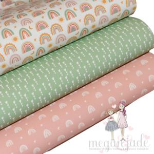 Rainbow Printed Bow Fabric Canvas Hair Bows - Rainbow Bundle 3
