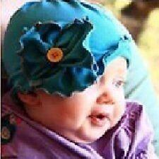 Bebé Infantil Gorro con flor Algodón Oscuro Azul Marina de guerra cottonwhool