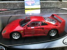 HOTWHEELS EXOTICS SERIES 23911 FERRARI F40 RED 1/18 SCALE METAL MODELCAR