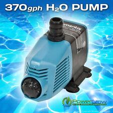 Water Pump 370 gph Elemental H2O - Aquarium Hydroponics Aquaponics Pond