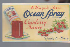 6 Ways to Serve Ocean Spray Cranberry Sauce Brochure South Hanson Mass
