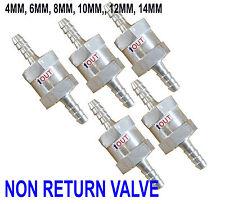 In acciaio inox un modo di non ritorno VALVOLA Unidirezionale Carburante Benzina respiro 6,8,10,12,14mm