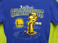 NBA Basketball Golden State Warriors 2015 Champions The Finals Trophy T Shirt M