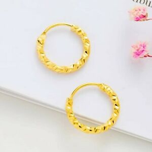 Gold Plated Small Ring Earring Indian Hoops