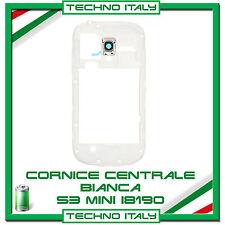 CORNICE CENTRALE Samsung Galaxy S3 Mini i8190 BIANCO middle FLAT FRAME TASTI