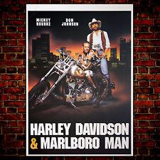 Movie Poster Harley Davidson & Marlboro Man - Size: 70x100 CM