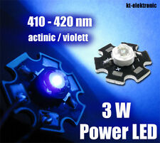 3W Power LED actinic ultraviolett 410-420nm Uf=3,4V, Imax=700mA, Starplatine UV