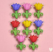 DRESS IT UP Buttons April Showers 5932 - Embellishments Flowers Tulips