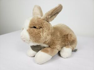 "Yomiko Classics Dutch Bunny 12"" Plush Tan Cream Realistic Rabbit Stuffed Animal"